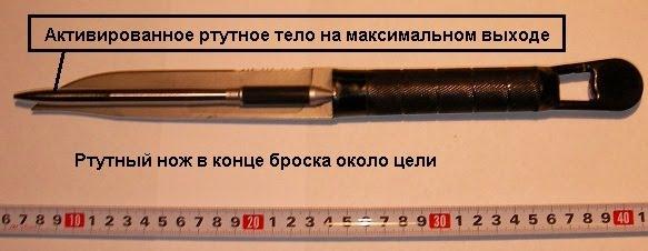 Ртутный нож в действии